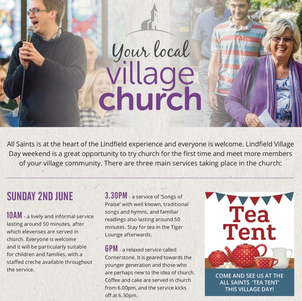 All Saints Lindfield : Sunday 2nd June